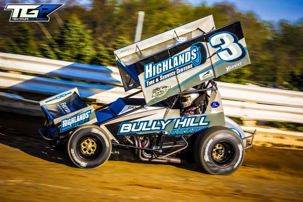 Bully Hill Vineyards sponsored race car