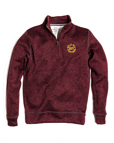 Product Image for Quarter Zip Fleece - Red Mahogany