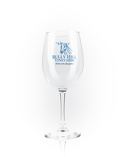 Product Image for Logo Wine Glass - Blue